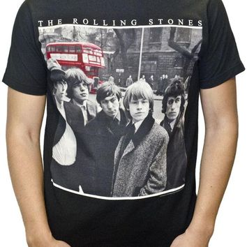 The Rolling Stones VINTAGE BUS GROUP PHOTO LONDON T-Shirt NWT 100% Authentic