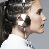 Frends Taylor Headphones in Rose Gold/White