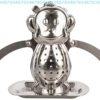 Kikkerland Monkey Tea Infuser and Drip Tray:Amazon:Kitchen & Dining