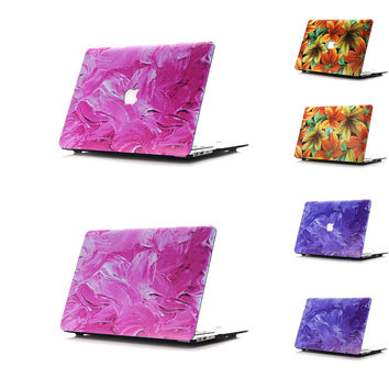 2 Design Painting Style Matte Hard Thin Ultrabook Protector Laptop Cover Cases For Macbook Pro 13 15 Retina 13.3 15 Air 11 13 12