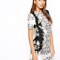 ASOS T-Shirt Dress In Mirror Floral