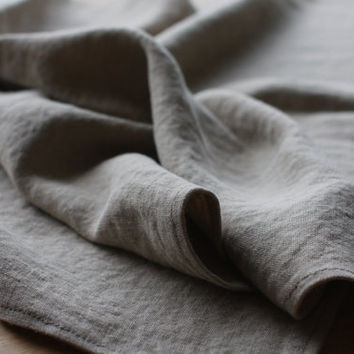 Stonewashed Linen Baby Blanket - Natural Linen Throw small - Lithuanian flax - Handmade - Soft - Eco-friendly - Natural product