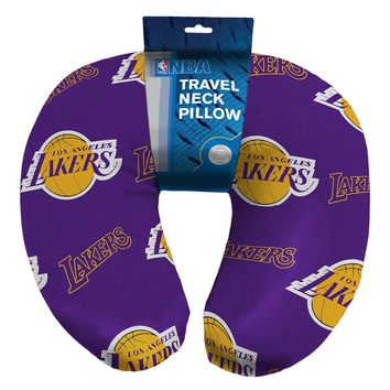 Los Angeles Lakers NBA Beadded Spandex Neck Pillow (12in x 13in x 5in)