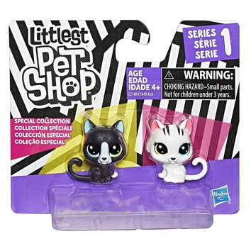 Littlest Pet Shop BFFs Mini Black White Cats Kittens Special Collection Figure Set - Series 1