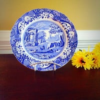 ITALIAN SPODE COPELAND Transferware Plate, Vintage China Made in England Collectors Plate, Felix Vintage Market