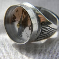 Daddy won't get lost anymore Compass Ring for by LindaMunequita