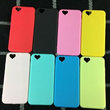 Kerzzil Cute Candy Color Love Heart Case for iPhone 7 6 6s Soft Silicone Phone Back Cover Case For iPhone 6 6s 7 Plus capa Coque