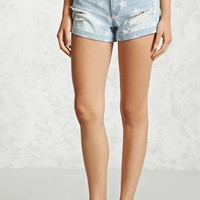 Star High-Rise Denim Shorts
