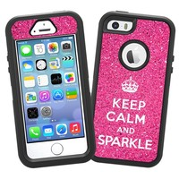 """Keep Calm and Sparkle """"Protective Decal Skin"""" for OtterBox Defender iPhone 5s Case"""