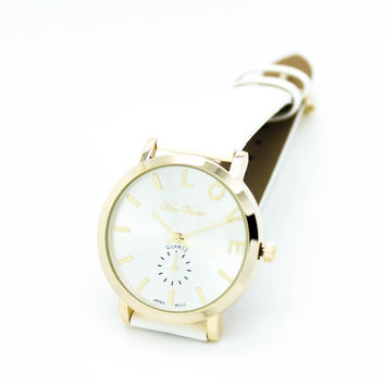 LOVE strap watch (4 colors)