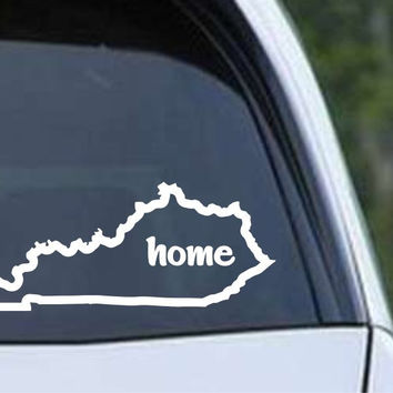 Kentucky Home State Outline KY Bluegrass - USA America Die Cut Vinyl Decal Sticker