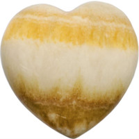 Orange Calcite Puffy Gemstone Heart