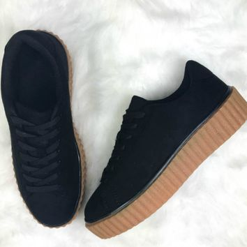 Model Behavior Black Suede Sneakers