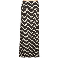 Full Tilt Chevron Stripe Girls Maxi Skirt Black/White  In Sizes