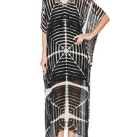 Silk Linear Printed Kaftan