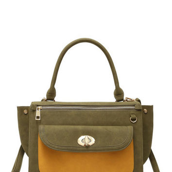 Seventies Throwback Olive Green Handbag