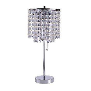 Art Deco Glam Dangling Crystal Table Lamp | Overstock.com Shopping - The Best Deals on Table Lamps