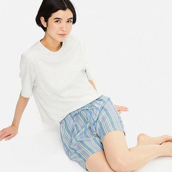 WOMEN STRIPED RELACO SHORTS