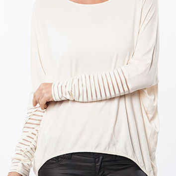 Umgee Lila Stripes Top