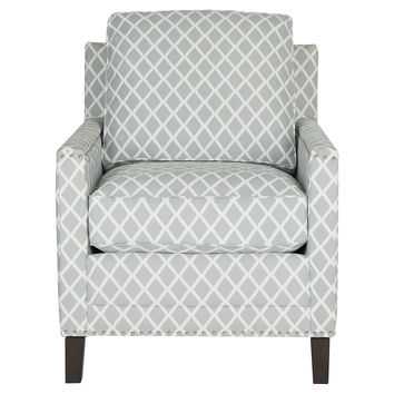 Deema Club Chair, Gray/White, Accent & Occasional Chairs