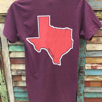 Made in Texas B&R Pocket Tee Cranberry