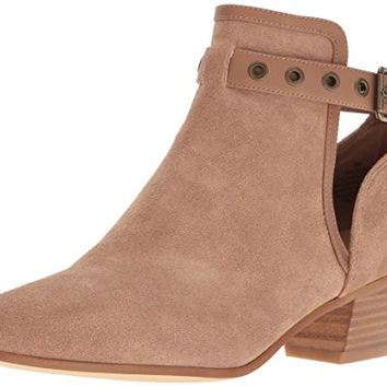 Nine West Women's Loyal Suede Boot, Natural, 10.5 M US