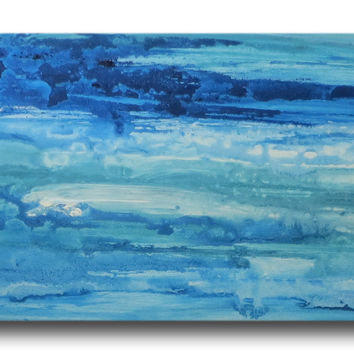 Abstract art canvas blue