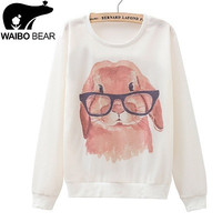 Smart Rabbit Casual Loose Wear Hoodie For Outerwear