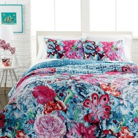 Mosaic Garden 3 Piece Comforter and Duvet Cover Sets