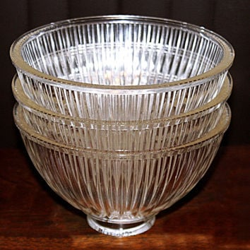 Antique Pressed Glass Ribbed Globes, Beautiful Sheen, Excellent Condition, Gorgeous Glass From Years Gone By, Great Glass