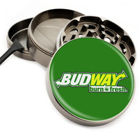 "Bud Way - 2.5"" Premium Zinc Herb Grinder - Custom Designed"