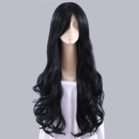 TT-523 Homestuck Vriska Serket Long Black Curly Cosplay Stylish Hair Wig