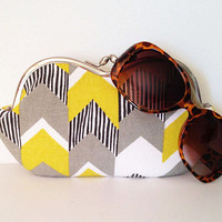 Lemongrass Chevron, a sunglasses, eyeglass case, smartphone case, small clutch