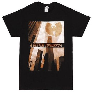 Wu-Tang Clan A Better Tomorrow Logo Licensed Adult Unisex T-Shirts - Black