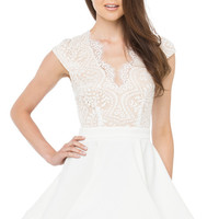 Morning Song White Skater Dress