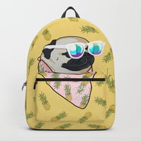 Pug Time Backpacks by lostanaw