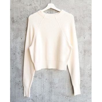 Free People - Too Good Ribbed Trim Pullover Sweater - White 9f459e743