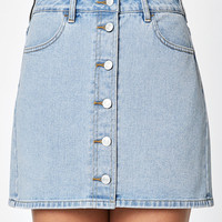 PacSun Button Front Denim Mini Skirt at PacSun.com
