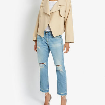 rag & bone/JEAN Abingdon Open Hem Destroyed BF | Shop IntermixOnline.com