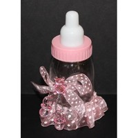 Baby Bottle Keepsake - Pink Set of 6