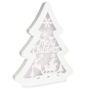 White wooden light-up Christmas tree H 46 cm | Maisons du Monde