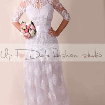 Lace Wedding dress / royаl elegans/ /Recepion/ long /mаxi/ lace dress/  Bridal Gown