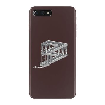 some game involving falling blocks in the style of m.c. escher iPhone 7 Plus Case