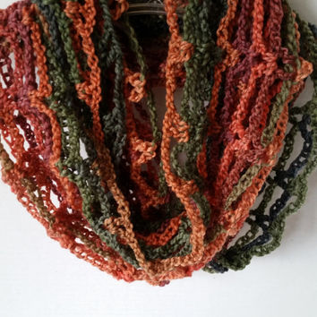 Infinity Scarf Cowl Multi Crocheted