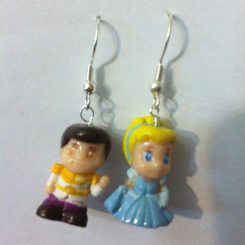 Cinderella and Prince Charming Earrings by PurplePandaJewelry