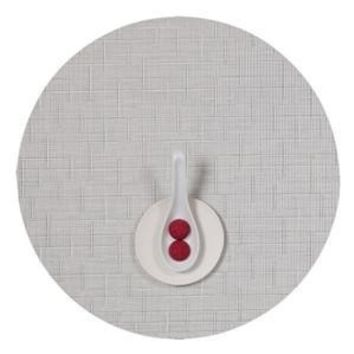 CHILEWICH Bamboo Round Placemats S/4   White