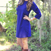 Everyday Ready Dress: Navy Blue | Hope's