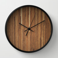 Wood #2 Wall Clock by Dr. Lukas Brezak