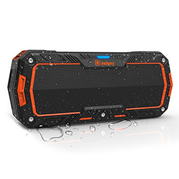 Jackery Boom 10W Bluetooth 4.1 IP65 Wireless Water Resistant Dustproof Rugged Portable Bluetooth Speaker Perfect for Biking, Hiking, Camping, Beach, Poolside Play and Other Outdoor Activities