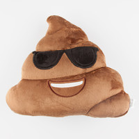 Sunny Poop Emoji Pillow Brown One Size For Women 27491340001